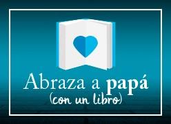 Abraza a papá con un libro